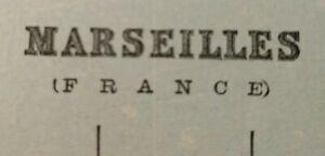 "Vintage 1900 MARSEILLES NICE FRANCE Map 11""x14"" ~ Old Antique Original CORSICA"