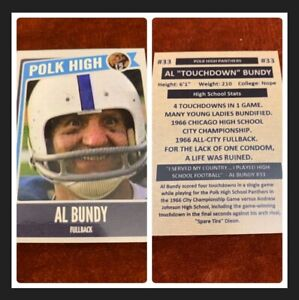 Al Bundy Polk High Football Card