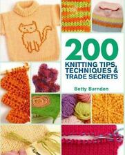 200 Knitting Tips, Techniques & Trade Secrets: An Indispensable Refere-ExLibrary
