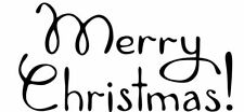 Christmas - Merry Christmas #7 Unmounted Clear Stamp Approx 60x28mm