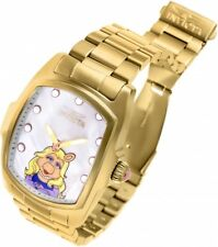 New Mens Invicta 25966 Grand Lupah Muppets LE Gold Tone Bracelet Watch