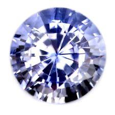 Certified Natural Ceylon Light Blue Sapphire 0.37ct VVS Clarity 3.9mm Round Gem