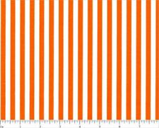 Orange Stripe Print Cotton Fabric Choice Fabrics BTY