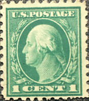 Scott #462 US 1916 1 Cent Washington Postage Stamp Perf 10