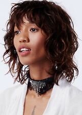 NWT Free Peope Lacey Lace Embellished Choker Necklace Black