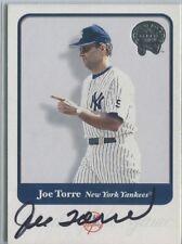 2001 Fleer Greats of the Game Joe Torre Hand Signed Card #60 Yankees HOF GOTG