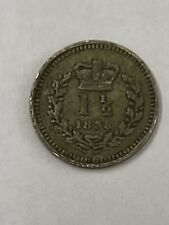 More details for 1838 silver 1; 1/2 coin pence queen victoria great condition