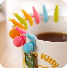 10packs Cute Snail Tea Bag Holder Silicone Kitchen Mug Cup Infuser Gift au