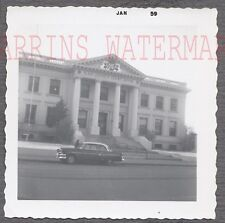 Vintage Car Photo Roadside 1954 Ford Automobile Elko County Court House 754844