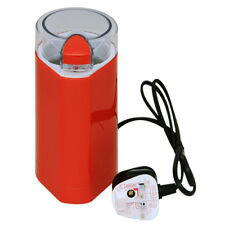 150W ELECTRIC COFFEE GRINDER MIXER BEAN & DRY SPICE CRUSHER RED WITH CLEAR LID