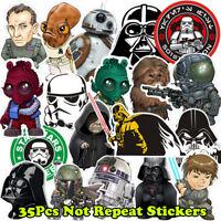 35Pcs/Lot Vinyl Star Wars Graffiti Stickers Bomb For Laptop Car Skateboard Decal