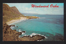 c1966 Nani Li'i Makapuu Point view Windward side Oahu Hawaii postcard