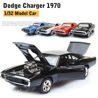 Dodge Charger 1970 1:32 Diecast Model Car Toy Collection Sound&Light Gift