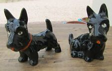 ANCIENS CHIENS EN FAIENCE SCOTTISH TERRIER 1930'S