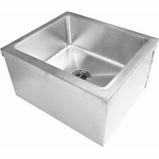 """Commercial Stainless Steel Floor Mount Mop Sink,20""""Wx24""""Lx11-1/2""""H"""