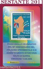 TESSERA FILATELICA POLIGONO ADDESTRAMENTO INTERFORZE SALTO DI QUIRRA 2006 H53
