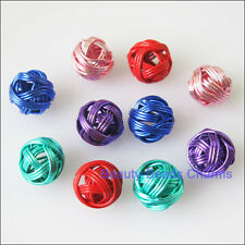 10 New Charms Mixed Round Ball Hollow Spacer Beads 8mm