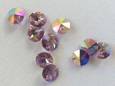 """Swarovski Crystals - 10 """"Light Amethyst"""" 8mm Crystals- Austrian Art.6200 Corona"""