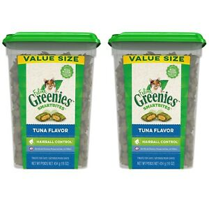 Greenies Hairball Control Crunchy and Soft Natural Cat Treats - Tuna 16 oz
