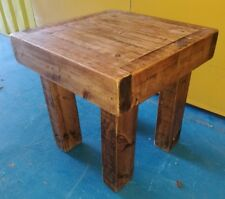 ~Quality ~Coffee Table ~Very Chunky ~Solid Reclaimed Pine~ 50cm x 50cm ~VGC~