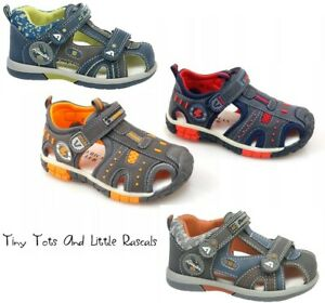 Toddler Boys Kids Summer Sandals Beach Shoes Leather Insole Size UK 4 - 3