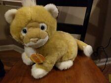"RARE 1995 DAKIN SOFT CLASSICS 18"" Big Cat Lion Plush Stuffed Animal w/ Hang tag"