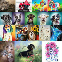 5D DIY Full Drill Diamond Painting Dog Cross Stitch Mosaic Kit Home Decor Gifts