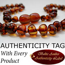 Baltic Amber Baby Child Necklace - COGNAC - AGbA® Certified