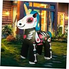5.4 FT Halloween Inflatable Decorations Skeleton Unicorn,Outdoor Holiday