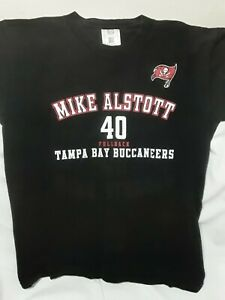 Tampa Bay Buccaneers Mike Alstott #40 Black T Shirt Vintage NFL Fullback Bucs