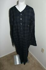 Polo Ralph Lauren Flannel Tartan Plaid Pajama Sleep Shirt Long Gown Nightshirt L