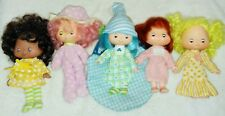 Strawberry Shortcake Vintage Lot of 5 Sweet Sleepers Dolls & 2 Pets