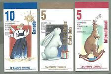 CANADA 1993 - SET OF 3 Booklets - CHRISTMAS Noel (F/v= $11.05) - Complete - MNH