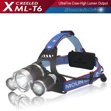 Headlight Flashlight Hiking Rechargeable XML T6 CREE Led Hiking Headlamp Flashli