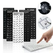 Keyboard Stickers for Laptop PC Transparent Stickers Letters Black White Sticker