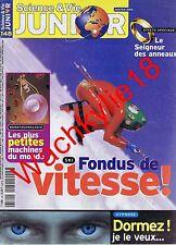 Science et vie junior n°148 du 01/2002 Vitesse Hypnose Le seigneur des anneaux
