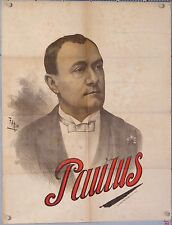 FARIA  FRENCH VINTAGE POSTER PAULUS CABARET THEATRE circa 1895 - 1900