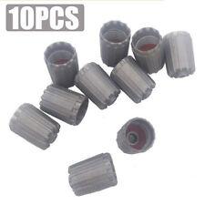 10pcs/bag Plastic Gray Tire Valve Stem Caps TPMS Tire Cap with Gasket Car Truck