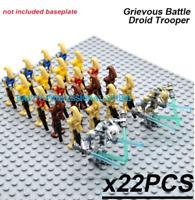22pcs Star Wars Battle Droid + Captain Minifigures - CUSTOM Minifigure Lego MOC