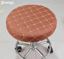 "10Pcs 14"" Bar Stool Covers Round Chair Seat Cover Cushions Sleeve Orange Dental"