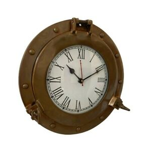 Nautical Brass Porthole Wall Clock For Home & Office Decoration