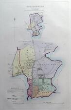 SOUTHAMPTON, HAMPSHIRE, UK, Street Plan, Dawson Original antique map 1832