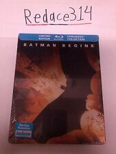 Batman Begins Limited Edition Blu-Ray Steelbook [CA], Brand New,Factory Sealed