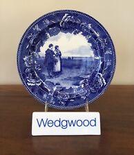 Antique Wedgwood LONGFELLOW Series RETURN OF THE MAYFLOWER Transferware Plate