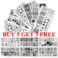 BORN PRETTY Nail Stamping Plates Rose Flower Geometry Nail Art Templates Tips