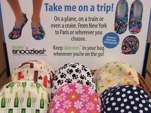 Ladies Travel Slippers – fold away into a handy zipped pouch