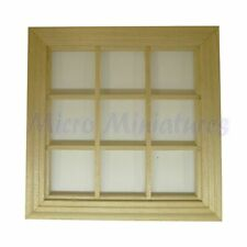 Dolls House Georgian Nine Pane Window Frame 1/12th Scale (00520)