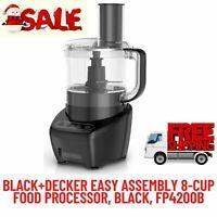 BLACK & DECKER Easy Assembly 8-Cup Food Processor 3-IN-1, Black, 450W, FP4200B