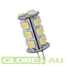 2x 12V G4 18 LED COOL WHITE LIGHT 5050 SMD Cabinet Camper Bulb Globe Boat Garden