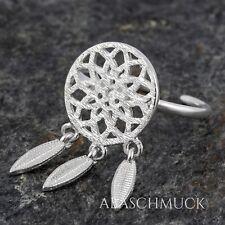 Silberring Silber 925 Ring  Verstellbar Offen  R730 Traumfänger Boho Indiana